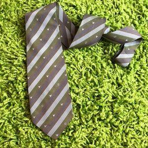 Auth FENDI Vintage Silk Skinny Neck Tie